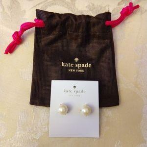 NWT Kate Spade Pearl Gumdrop Studs